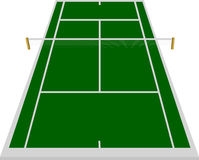Tennis court field in green. With white lines Stock Image