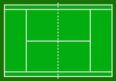 Tennis court. Field isolated on white background, stock vector i royalty free illustration