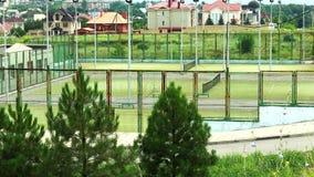 Tennis court stock footage