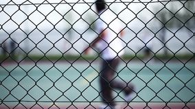 Tennis Court Game Sport Activity. Video stock footage