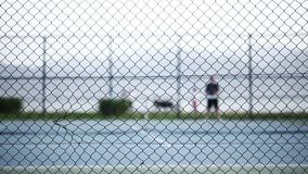 Tennis Court Game Sport Activity stock video footage