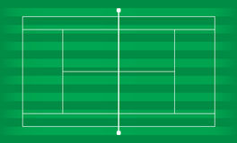 Tennis court grass Stock Photo