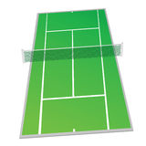 Tennis court green color vector illustration Royalty Free Stock Image