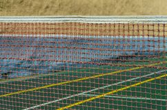 Tennis court, grid and ball. royalty free stock image