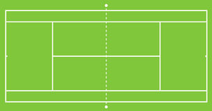 Tennis court illustration Royalty Free Stock Images