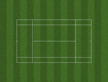 Tennis Court Lawn Layout Royalty Free Stock Images
