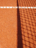Tennis court with line  (39). Tennis court with line and net shadow, outside Royalty Free Stock Photo