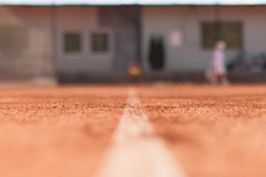 Tennis court line Royalty Free Stock Photo