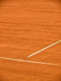Tennis court line 381. Close-up Royalty Free Stock Photo