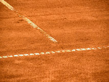 Tennis court line 375. Close-up Royalty Free Stock Image