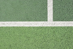 Tennis court line detail Royalty Free Stock Photo