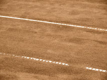 Tennis court line (281). Tennis court lines outside in a tennis court Stock Photography