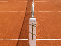 Tennis court line with net (70). Tennis court line with net, details of a tennis court, outside Stock Photos