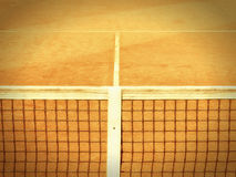 Tennis court with line and net  (122). Tennis court with line and net, old camera look Royalty Free Stock Image