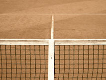 Tennis court with line and net  (120) old look Royalty Free Stock Photo