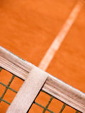 Tennis court. Tennis court with line and net, outside Stock Images