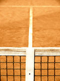 Tennis court with line and net  (125). Tennis court with line and net, outside in a tennis court Royalty Free Stock Photos