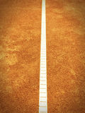 Tennis court line (139). Tennis court line, old camera look Stock Photography