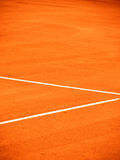 Tennis court line (151). Tennis court line, outside in a tennis court Stock Photo