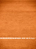 Tennis court line (291). Tennis court T-line, outside in a tennis court Royalty Free Stock Photos