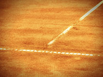 Tennis court line (276). Tennis court t-line, outside in the Tennis court Stock Photography