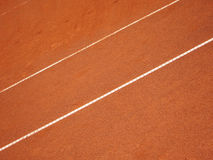 Tennis court lines (64). The lines in a tennis court, outside with sunlight Stock Photos