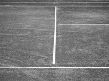 Tennis court lines (89). Tennis court lines in black and white Royalty Free Stock Images