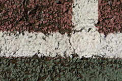 Tennis court lines Stock Photography