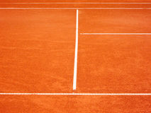 Tennis court lines (90). The tennis court lines, outside in the court Royalty Free Stock Photo