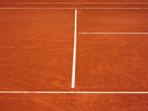 Tennis court lines (79). Tennis court lines, outside in a tennis court Royalty Free Stock Photos