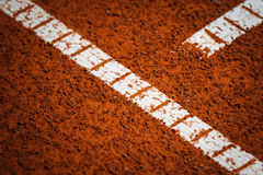 Tennis court lines Royalty Free Stock Photography