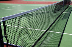 Tennis court. Mesh in the middle of a tennis court Stock Images