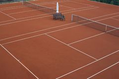 Tennis court for the preparation of athletes stock photography