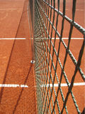 Tennis court net (26). Tennis court net and shadow outside Stock Photography