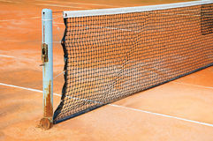 Tennis court with net Royalty Free Stock Image