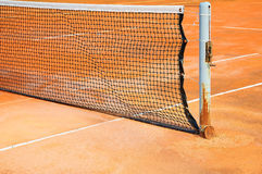 Tennis court with net. For background Royalty Free Stock Photography