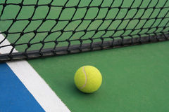 Tennis on court with net Royalty Free Stock Photo