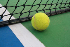 Tennis on court with net Royalty Free Stock Photos