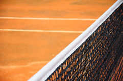 Tennis court with net Royalty Free Stock Photo