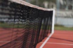 Tennis Court Net and Court Beyond Stock Photos