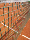Tennis court with net (8) Royalty Free Stock Image