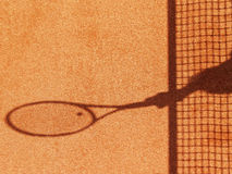 Tennis court net and shadow (23). Outside in a tennis court, net and racket shadow Stock Photography