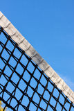Tennis court net and sky Royalty Free Stock Photos