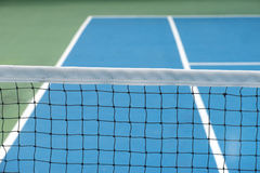 Tennis Court. With net in stadium Royalty Free Stock Images
