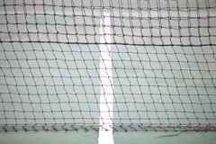 Tennis court net and white intersecting lines Royalty Free Stock Photos