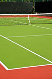 Tennis Court. A Newly Resurfaced Tennis Court Royalty Free Stock Photo