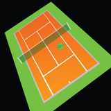 Tennis court orange color vector illustration Royalty Free Stock Photography