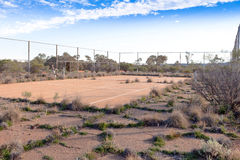 Tennis court in outback Australia. Stock Images