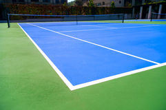Tennis court outdoors Royalty Free Stock Image