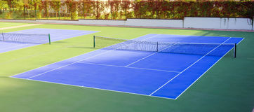 Tennis court outdoors Royalty Free Stock Photos
